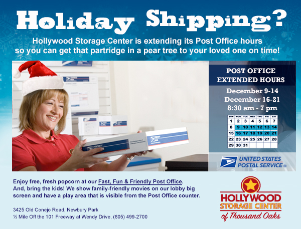 Hollywood Storage Center Extends Holiday Post Office Hours