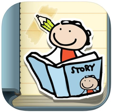 Image result for Kid in Story Book Maker app""