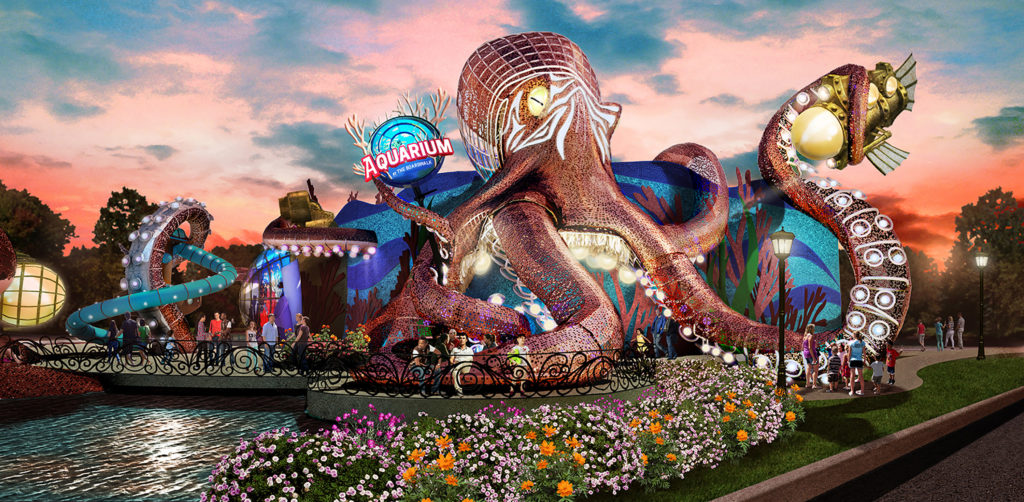 The proposed Aquarium at the Boardwalk would be an icon in the heart of Branson, MO