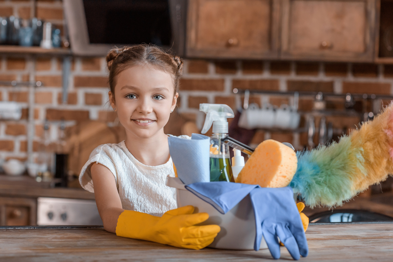 Self-storage experts share how kids can help clean for Mother's Day
