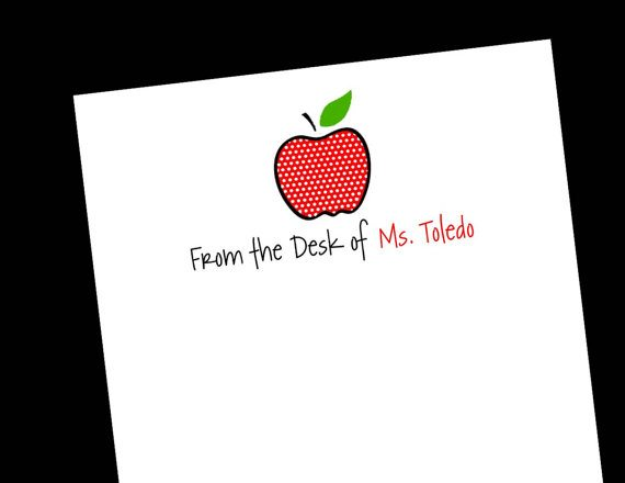 Personalized notepad for teachers