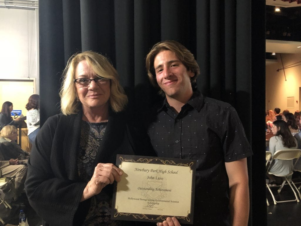 Student receives Hollywood Storage Center College Scholarship