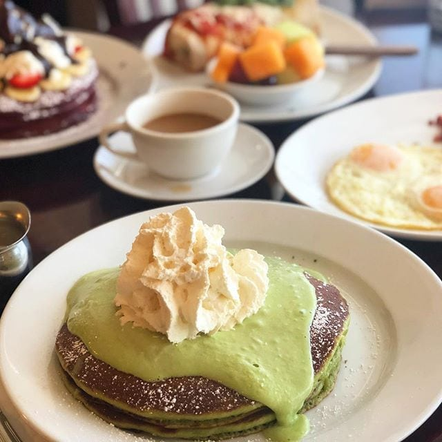 Green Tea Tiramisu Pancakes - a Thousand Oaks Storage team fave