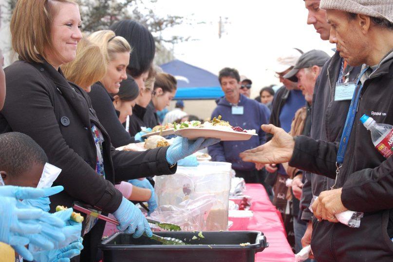 Feeding the homeless from Newbury Self Storage team