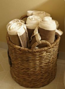 Basket with Towels for Organizing