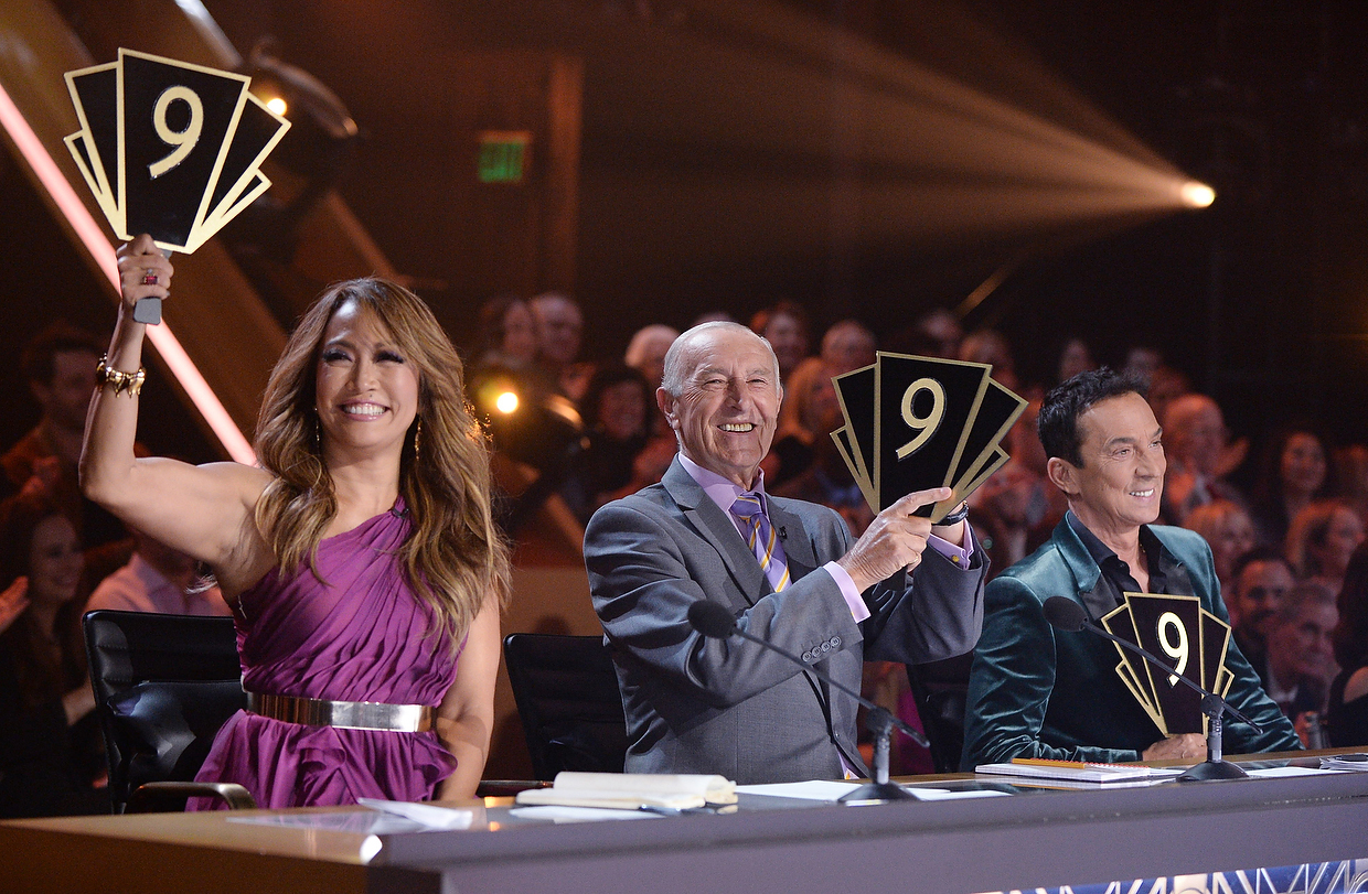 Judges, Carrie Ann Inaba, Len Goodman and Bruno Tonioli during 'Dancing with the Stars.'