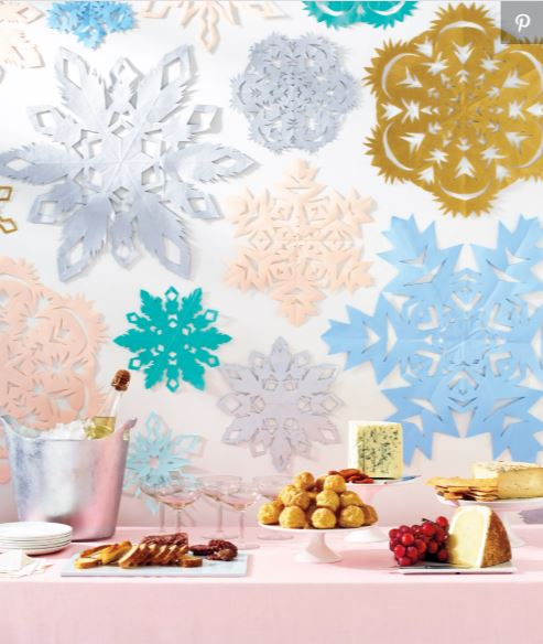Snowflakes crafts from storage experts