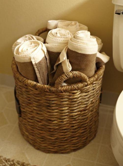 basket full of towels