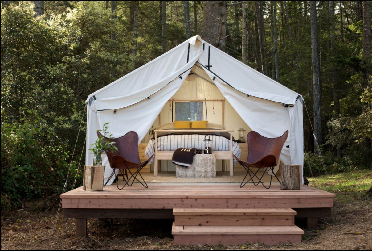 Glamping on Valentines Day