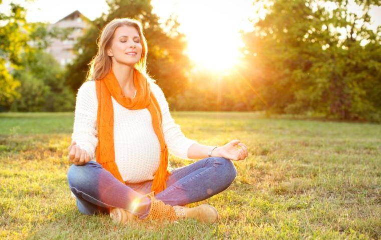 Woman enjoying sunny weather