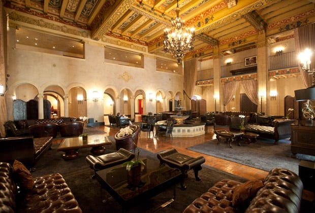 The Stunning Lobby in Hollywood, California's Roosevelt Hotel