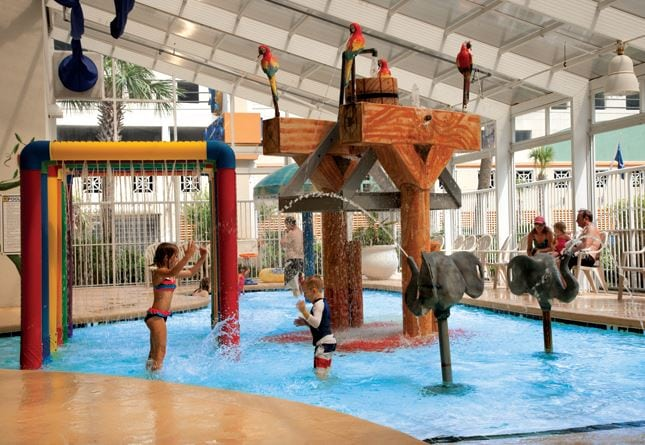 The Indoor Water Park at The Dunes Village Resort