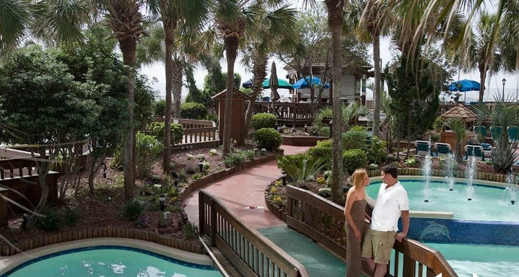 The Beach Cove's Tropical Outdoor Pool Deck