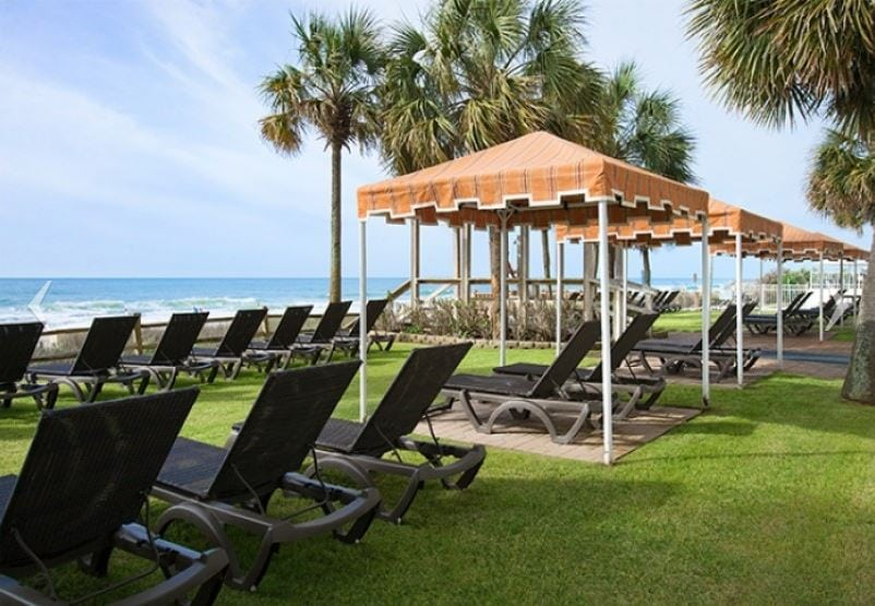 The Strand at Myrtle Beach, South Carolina's Tanning Lawn