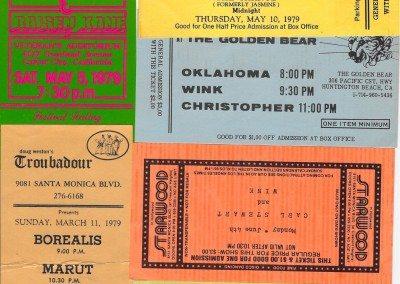 Wink Tickets 1978-79